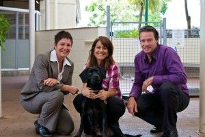 SPCA's CEO Christine Kalin, Gina Paladini and Tom Steward (Tomahawk)